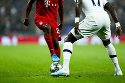 Kingsley Coman of Bayern Munich is challenged by Moussa Sissoko of Tottenham Hotspur - Rogan/JMP - 01/10/2019 - FOOTBALL - Tottenham Hotspur Stadium - London, England - Tottenham Hotspur v Bayern Munich - UEFA Champions League Group B.