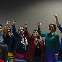 The New Mexico Indigenous Women's Resource Council at their launch celebration at Rio West Mall in Gallup Saturday.