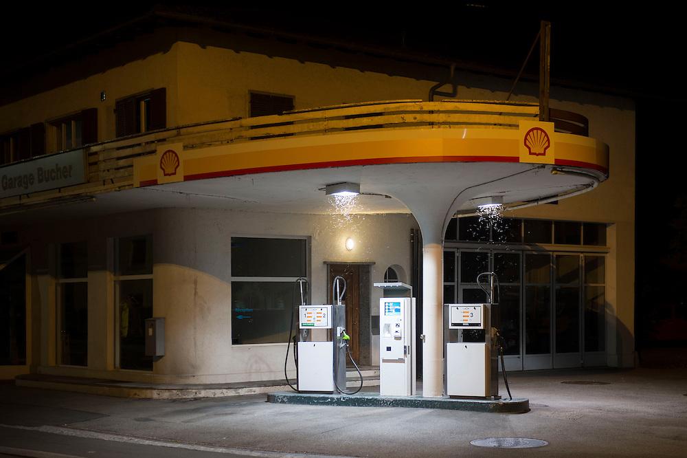 13.08.2016; Moutier (CH); Tankstelle an der Rue de Soleure in Moutier<br /> (Steffen Schmidt)