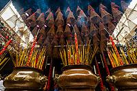 Incense sticks and coils, Thien Hau Temple, Chinatown, Ho Chi Minh City (Saigon), Vietnam.