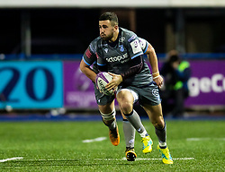Aled Summerhill of Cardiff Blues<br /> <br /> Photographer Simon King/Replay Images<br /> <br /> European Rugby Challenge Cup Round 2 - Cardiff Blues v Leicester Tigers - Saturday 23rd November 2019 - Cardiff Arms Park - Cardiff<br /> <br /> World Copyright © Replay Images . All rights reserved. info@replayimages.co.uk - http://replayimages.co.uk