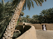 A man walks through the Al Ain Oasis. It has been opened as the UAE's first curated UNESCO World Heritage site that visitor can experience. Spread over 1,200 hectares, nearly 3,000 acres, and containing more than 147,000 date palms of up to 100 different varieties, this impressive oasis is filled with palm plantations, many of which are still working farms.