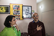 25022019. INDE. BIHAR. La caravane de la paix Karwan-e-Mohabbat. Harsh Minder, à l'origine de Karwan-e-Mohabbat (la caravane de l'amour), leader du collectif. PATNA. Natasha Badwhar, documentariste et auteure.