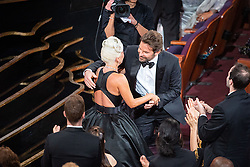 February 24, 2019 - Hollywood, California, U.S. - Lady Gaga and Bradley Cooper during the Academy Awards or Oscars at the Dolby Theatre in Hollywood. (Credit Image: © AMPAS/ZUMA Wire/ZUMAPRESS.com)