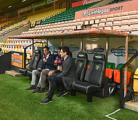 Sky doing a pre match interview on the potential of Norwich getting automatic promotion if they get a point in today's match<br /> <br /> Photographer David Horton/CameraSport<br /> <br /> The EFL Sky Bet Championship - Norwich City v Blackburn Rovers - Saturday 27th April 2019 - Carrow Road - Norwich<br /> <br /> World Copyright © 2019 CameraSport. All rights reserved. 43 Linden Ave. Countesthorpe. Leicester. England. LE8 5PG - Tel: +44 (0) 116 277 4147 - admin@camerasport.com - www.camerasport.com