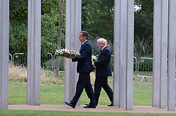 © London News Pictures. 07/07/15. London, UK. David Cameron, Boris Johnson, Harriet Harman and John Bercow attend the commerations at the 7/7 Memorial in Hyde Park to mark the 10 year anniversary of the London bombings, Central London. Photo credit: Laura Lean/LNP