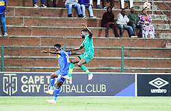 23102018 (Durban) Cape Town City playerSiphelele Mthembu tackling for a ball with Amazulu Player Sedate Akoriko during the first round of the Telkom Knockout concludes on Tuesday night when Amazulu host MTN8 Cup winners Cape Town City at the King Zwelithini stadium.<br /> Picture: Motshwari Mofokeng/African News Agency (ANA)
