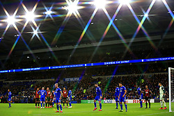 A general view of match action during the Premier League match at the Cardiff City Stadium.