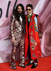 Alessandro Michele and Jared Leto attending The Fashion Awards 2016 at The Royal Albert Hall in London. <br /> <br /> Picture Credit Should Read: Doug Peters/ EMPICS Entertainment