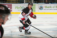 KELOWNA, CANADA - OCTOBER 18:  Jari Erricson #15 of the Prince George Cougars skates on the ice as the Prince George Cougars visit the Kelowna Rockets on October 18, 2012 at Prospera Place in Kelowna, British Columbia, Canada (Photo by Marissa Baecker/Shoot the Breeze) *** Local Caption ***