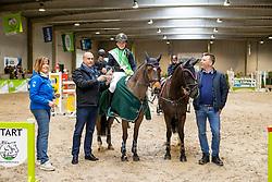 De Plecker Vic, BEL, Waaie Q Etoyca, De Plecker Vic, BEL, Donita van den Ham<br /> Nationaal Indoor Kampioenschap Pony's LRV <br /> Oud Heverlee 2019<br /> © Hippo Foto - Dirk Caremans<br /> 09/03/2019