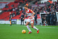 James Coppinger of Doncaster Rovers (26) in action during the EFL Sky Bet League 1 match between Doncaster Rovers and AFC Wimbledon at the Keepmoat Stadium, Doncaster, England on 17 November 2018.