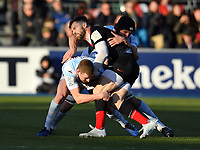 Rugby Union - 2019 / 2020 European Rugby Heineken Champions Cup - Pool Four: Saracens vs. Racing 92<br /> <br /> Saracens' Elliot Daly in action during this afternoon's game, at Allianz Park.<br /> <br /> COLORSPORT/ASHLEY WESTERN