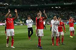 February 3, 2019 - Lisbon, Portugal - Benfica's players celebrates after the Portuguese League football match Sporting CP vs SL Benfica at Alvalade stadium in Lisbon, Portugal on February 3, 2019. (Credit Image: © Pedro Fiuza/ZUMA Wire)