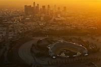 Dodger Stadium & LA Skyline @ Sunset