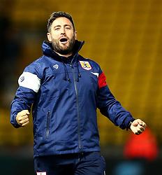 Bristol City head coach Lee Johnson celebrates the 3-2 victory over Watford - Mandatory by-line: Robbie Stephenson/JMP - 22/08/2017 - FOOTBALL - Vicarage Road - Watford, England - Watford v Bristol City - Carabao Cup