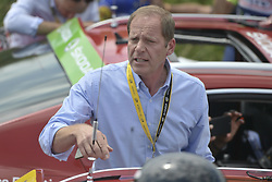 July 24, 2018 - Bagneres De Luchon, FRANCE - Christian Prudhomme, cycling director of ASO (Amaury Sport Organisation) pictured as the race is neutralised after a protest action during the 16th stage of the 105th edition of the Tour de France cycling race, 218km from Carcassone to Bagneres-de-Luchon, France, Tuesday 24 July 2018. This year's Tour de France takes place from July 7th to July 29th...BELGA PHOTO YORICK JANSENS - FRANCE OUT (Credit Image: © Yorick Jansens/Belga via ZUMA Press)