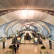 A departure terminal in Suvarnabhumi Airport Terminal, Bangkok, Thailand.