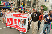 New York State Assemblyman Keith L.T. Wright,who represents Harlem, marching in the 2011 Pride Parade on New York's Fifth Avenue.