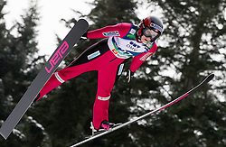 Line Jahr of Norway during Normal Hill Individual Competition at FIS World Cup Ski jumping Ladies Ljubno 2012, on February 11, 2012 in Ljubno ob Savinji, Slovenia. (Photo By Vid Ponikvar / Sportida.com)