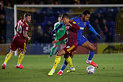 AFC Wimbledon defender Terell Thomas (6) battles for possession during the EFL Sky Bet League 1 match between AFC Wimbledon and Ipswich Town at the Cherry Red Records Stadium, Kingston, England on 11 February 2020.