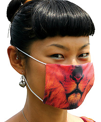 "June 2, 2017 - Japon - Here are some masks designed to bring out the animal in the wearer – and protect them from pollution.The masks, used by some people to keep out city smog spewed out by cars and factories, are designed to add a bit of fun.Called Get Well Soon masks, they were created by designer Samira Boon and her studio in the Netherlands.They are available for sale from her shop for €10 Euros.Samira lived in Japan for four years and is heavily influenced by her time there.Smog masks are common in the Asian cities.A spokesman for her studio aid:"" The very sterile white gauze mask inspired us to make something more cheerful and funny which would still serve its purpose.""Currently there are 15 different masks mostly animal themes but also human figures including one with a zipper mouth.They are available to by from samiraboon.com # MASQUES ANTI-POLLUTION (Credit Image: © Visual via ZUMA Press)"