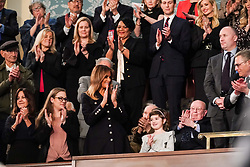 FEBRUARY 5, 2019 - WASHINGTON, DC: First Lady Melania Trump and guest Grace Eline during the State of the Union address at the Capitol in Washington, DC, USA on February 5, 2019. Photo by Doug Mills/Pool via CNP/ABACAPRESS.COM