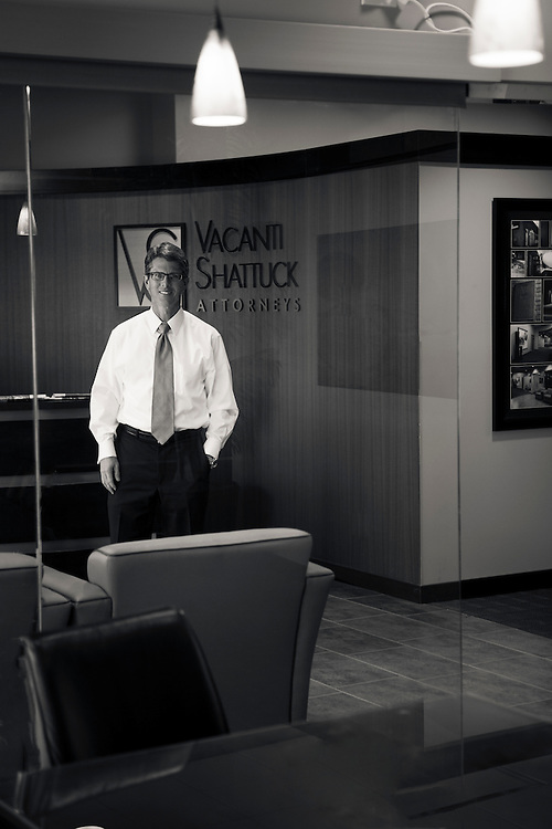31 January 2012- Chris Vacanti is photographed at Vacanti Shattuck Attorneys for Omaha Magazine.