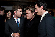 Harry Treadaway;  James Corden; Luke Evans, InStyle's Best Of British Talent Party in association with Lancome. Shoreditch HouseLondon. 25 January 2011, -DO NOT ARCHIVE-© Copyright Photograph by Dafydd Jones. 248 Clapham Rd. London SW9 0PZ. Tel 0207 820 0771. www.dafjones.com.