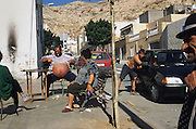 Roma Gitanos living in the barrio of Pescaderia, near the fishing port of Almeria town. Many Gitanos are crack addicts, a legacy of the era of Isla de Camarron who popularized coke in the Gitanos communities and who died of an overdose. Some of the addicts sell drugs to survive and pay their addiction. This community is very marginalized. Almeria, Spain