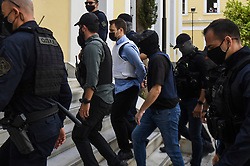 Babis Anagnostopoulos, husband of murdered Caroline Crouch, arrives the Investigator's office at Athens court, Greece, 22 June 2021.