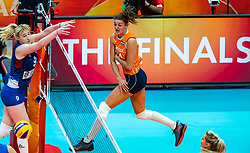 19-10-2018 JPN: Semi Final World Championship Volleyball Women day 18, Yokohama<br /> Serbia - Netherlands / Anne Buijs #11 of Netherlands, Brankica Mihajlovic #9 of Serbia