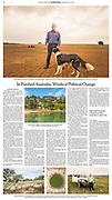 New York Times full page Tearsheet Australian climate change story by Australian Melbourne based photojournalist Asanka Brendon Ratnayake