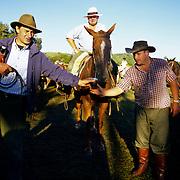 South America, Uruguay, Florida, Gaucho on a working ranch.