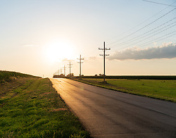 #112<br /> <br /> Sunset, County Road K, Mingo, Kansas