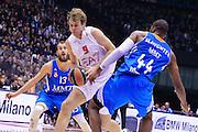 DESCRIZIONE : Milano Eurolega Euroleague 2013-14 EA7 Emporio Armani Milano Real Madrid <br /> GIOCATORE : Nicolo Melli <br /> CATEGORIA : Palleggio <br /> SQUADRA : EA7 Emporio Armani Milano<br /> EVENTO : Eurolega Euroleague 2013-2014 GARA : EA7 Emporio Armani Milano Real Madrid <br /> DATA : 05/12/2013 <br /> SPORT : Pallacanestro <br /> AUTORE : Agenzia Ciamillo-Castoria/I.Mancini<br /> Galleria : Eurolega Euroleague 2013-2014 <br /> Fotonotizia : Milano Eurolega Euroleague 2013-14 EA7 Emporio Armani Milano Real Madrid Predefinita