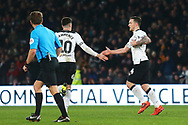 Derby County forward Jack Marriott (14) scores a goal and celebrates 2-1 during the The FA Cup 3rd round match between Derby County and Southampton at the Pride Park, Derby, England on 5 January 2019.