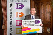 Stephen Williams MP supporting the Enough Food for Everyone?IF campaign. .MP's and Peers attended the parliamentary launch of the IF campaign in the State Rooms of Speakers House, Palace of Westminster. London, UK.