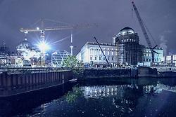 Construction site of Humboldt Forum in the Berliner Schloss in Mitte Berlin, Germany