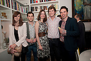 CAMILLE CHARRIERE; LUKA BAKER;PLUM SYKES;  JOSH SYKES; BENJO PLANT, Party hosted for Jason Wu by Plum Sykes and Christine Al-Bader. Ladbroke Grove. London. 22 March 2011. -DO NOT ARCHIVE-© Copyright Photograph by Dafydd Jones. 248 Clapham Rd. London SW9 0PZ. Tel 0207 820 0771. www.dafjones.com.