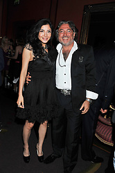 ROBERT TCHENGUIZ and ELAINE ZHANG at the 39th birthday party for Nick Candy in association with Ciroc Vodka held at 5 Cavindish Square, London on 21st Januatu 2012.