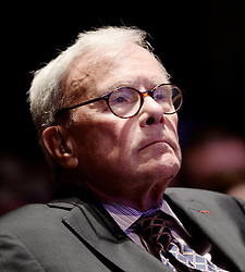 """Journalist Tom Brokaw looks on during the launch of """"Hidden Heroes"""" campaign at the Capitol September 27, 2016 in Washington, DC. The Hidden Heroes campaign has been created to generate stronger support for America's 5.5 million military and veteran caregivers. Photo by Olivier Douliery/Abaca"""