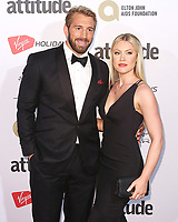 Chris Robshaw & Camilla Kerslake, The Virgin Holidays Attitude Awards Powered by Jaguar, The Roundhouse, London UK, 12 October 2017, Photo by Brett D. Cove