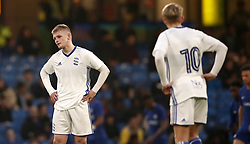Birmingham City's Ryan Stirk, (left) dejected after they concede a third goal of the ame