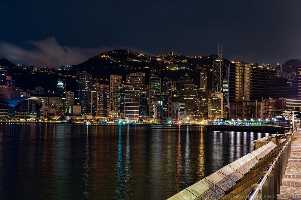Late Night on Tsim Sha Tsui Promenade