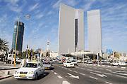 Israel, Tel Aviv, Azrieli towers highrise