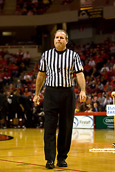 22 December 2009: Referee Gerry Pollard. The Tigers of Grambling State are defeated by the Redbirds of Illinois State 80-56 on Doug Collins Court inside Redbird Arena in Normal Illinois.