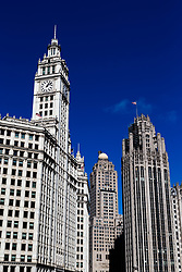 The Wrigley building, (left) and the Tribune building, (right) Chicago