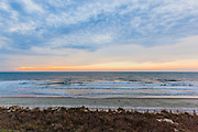 Cloudy Sunrise with Dunes and Waves, Grand Strand, South Carolina