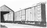 Box car #3788 and #3065 at entrance to car shed.<br /> D&RGW  Durango ?, CO